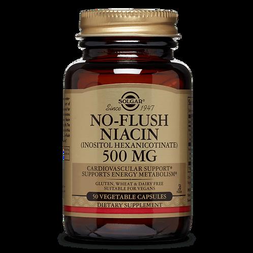 No-Flush Niacin 500 mg 50 Capsules