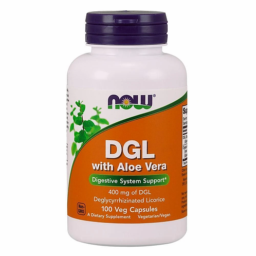 Now DGL with Aloe vera 100 capsules