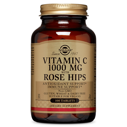 Vitamin C 1000 mg With Rose Hips 100 Tablets