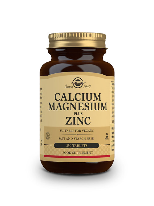 Calcium Magnesium Plus Zinc 250 Tablets