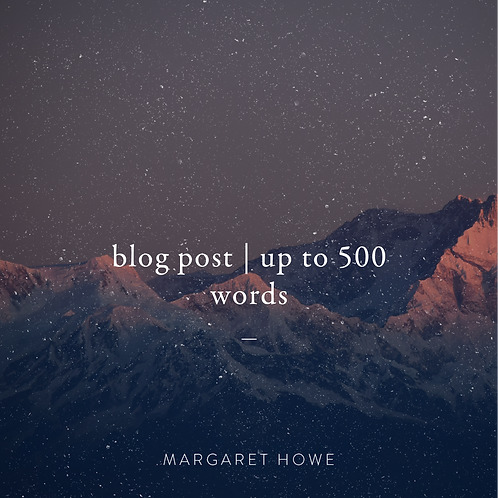 Blog Post (Up to 500 words)