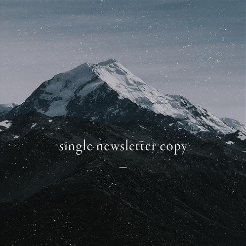 Single Newsletter Copy