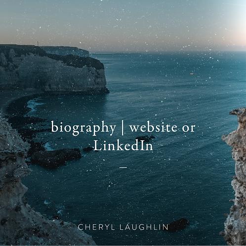 Bio (Website or LinkedIn)