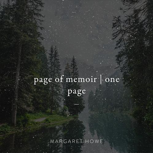 Page of a Memoir