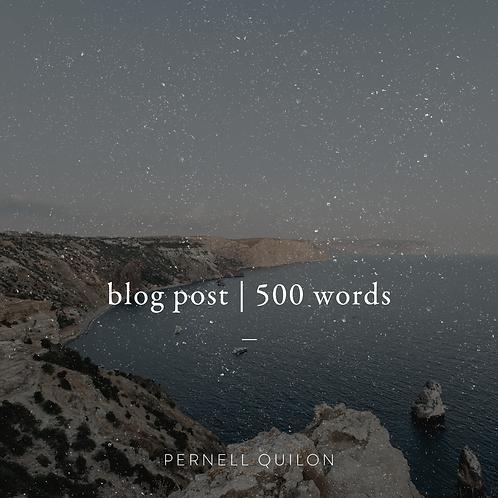 Blog Post (500 words)
