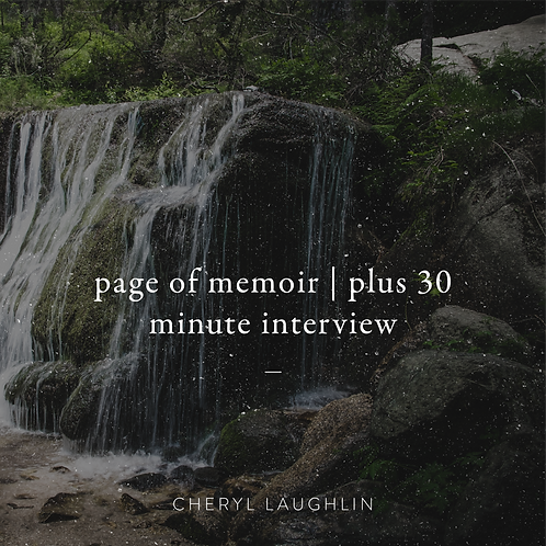 Page of Memoir (+ 30 minute interview)