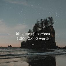 Blog Post | Between 1k-2k Words with SEO
