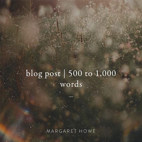 Blog Post (500 to 1,000 words)
