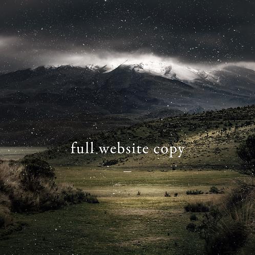 Full Website Copy