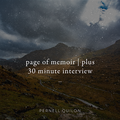 Page of Memoir and Interview