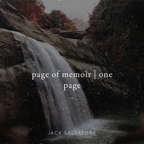 Page of Memoir (1 page)