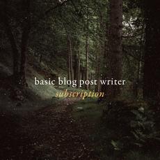 Basic Blog Writer Subscription