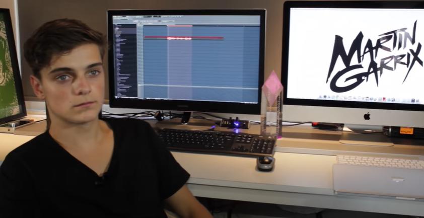 martin garrix in the studio
