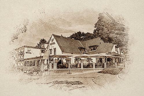 """""""Landidyll Hotel Weidenbrück"""" von Picfiart"""