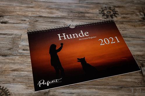 """Kalender """"Hunde - die treuen Begleiter 2021"""""""