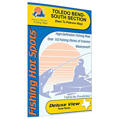 Toledo Bend Reservoir - South Section (Dam to Patroon Bay) - LA/TX Fishing Map