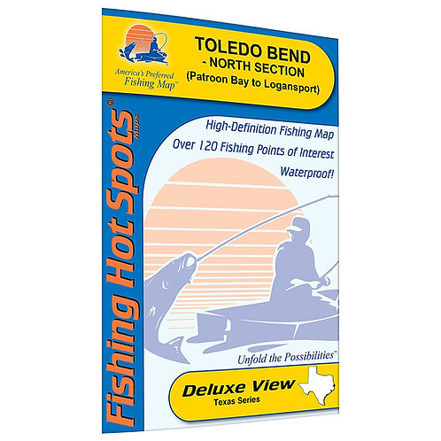 Toledo Bend-North Section (Patroon Bay to Logansport - LA/TX) Fishing Map