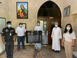 With gratitude in our heart wish to thank PDPM-St Anne for the kind contribution of one used 42inch Smart TV to the state prison in the Diocese