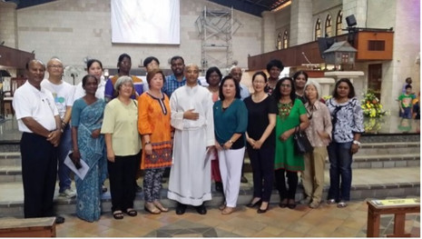 Commission/retreat at Minor Basilica of St. Anne