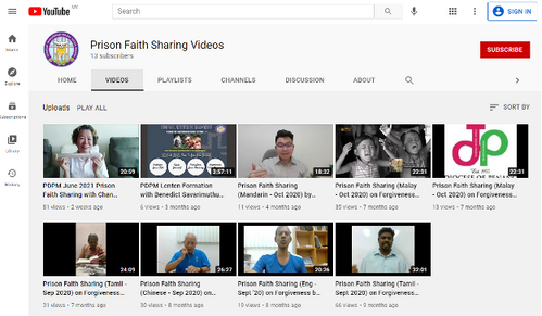 Compilation of Prison Faith Sharing by Penang Diocese Prison Faith Sharers