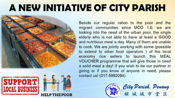 PDPM Freedom House Faith Sharers and Friends' contribution to City Parish Meal Voucher Program