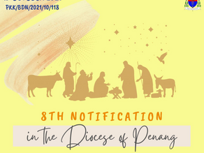 8th Notification & Updates in the Diocese of Penang