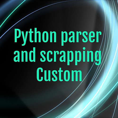 Python parser. Custom