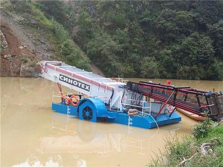 Плавающая уборочная машина
