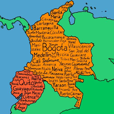 Colombia / Ecuador August