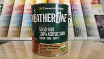 water based, exterior stain, green can, Cloverale Paint