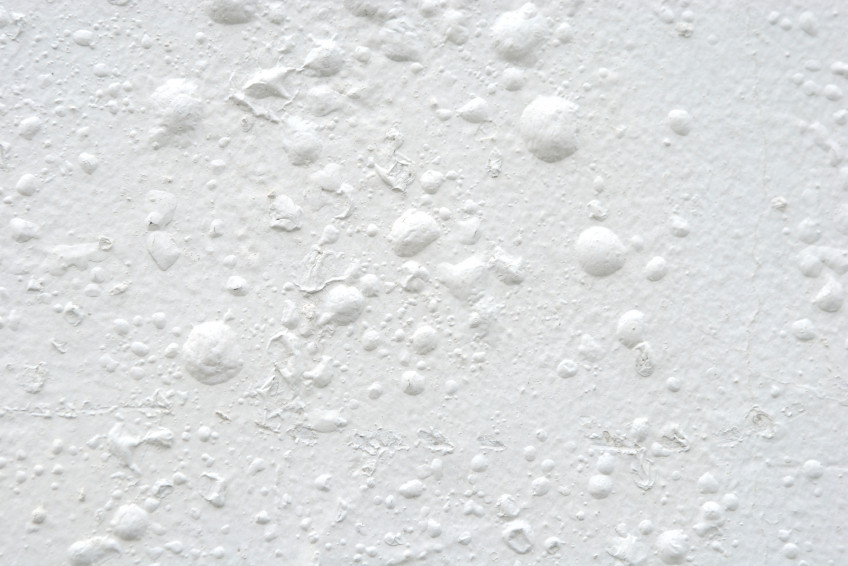 White paint with blisters