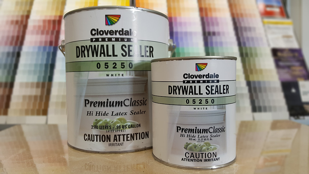 paint can, drywall primer, Cloverdale Paint