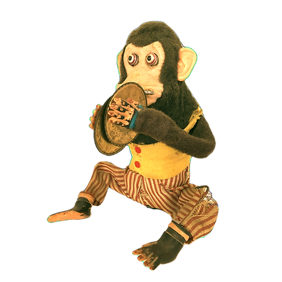 Vintage-Musical-Jolly-Chimp-Monkey-Clapp