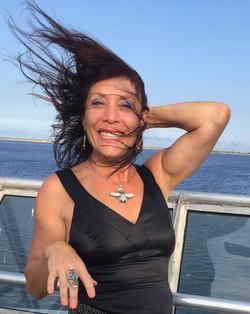 Windy SeaStreak ferry ride to NYC to visit dad with Glenda