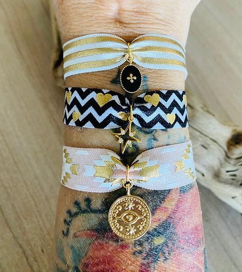 Bracelet breloque élastique