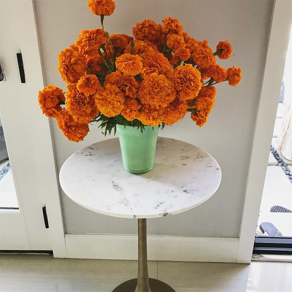 These are all the flower arrangements around the house. It was a lot of work trimming and cutting the stems to the right length. But, all worth it to be surrounded by pretty fall colors.
