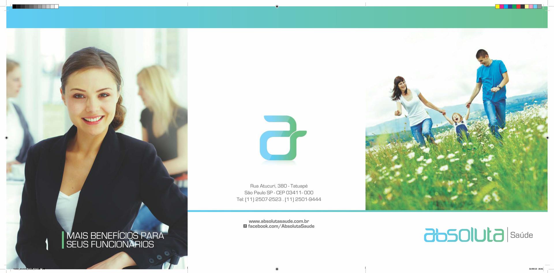Folder Absoluta - 629 x 300mm - 2 Dobras