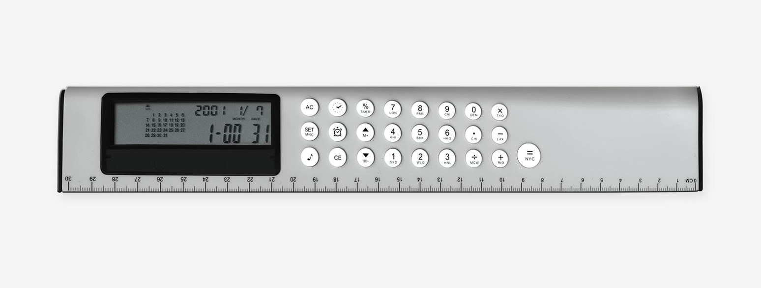 Régua Calculadora-Calendario-Alarme