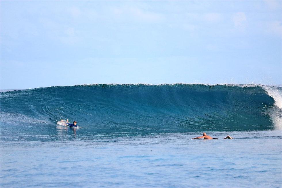 Maldives surfing