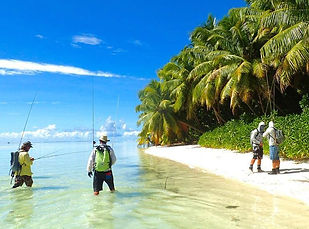 Flats FlyFishing out islands