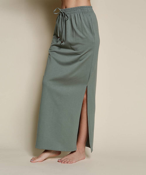 Fabina Organic Hemp Side Slit Maxi Skirt