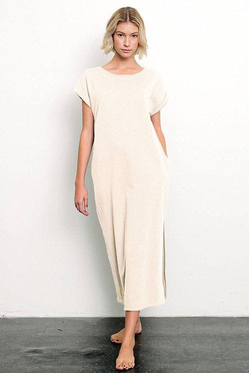 Fabina Organic Hemp Side Slit Dress