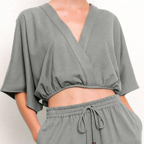 Fabina Organic Hemp Crop Kimono