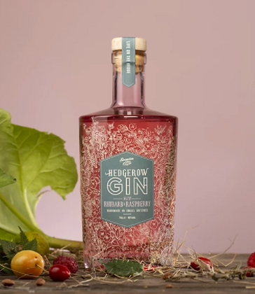 Hedgerow Rhubarb and Raspberry Gin (70cl)