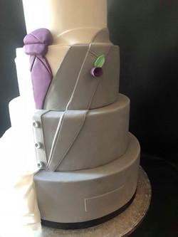 Split Bride & Groom Cake