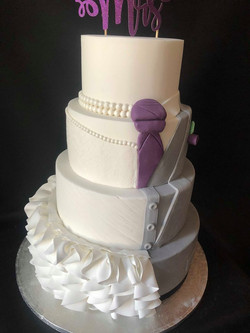 Split Bride & Groom Cake