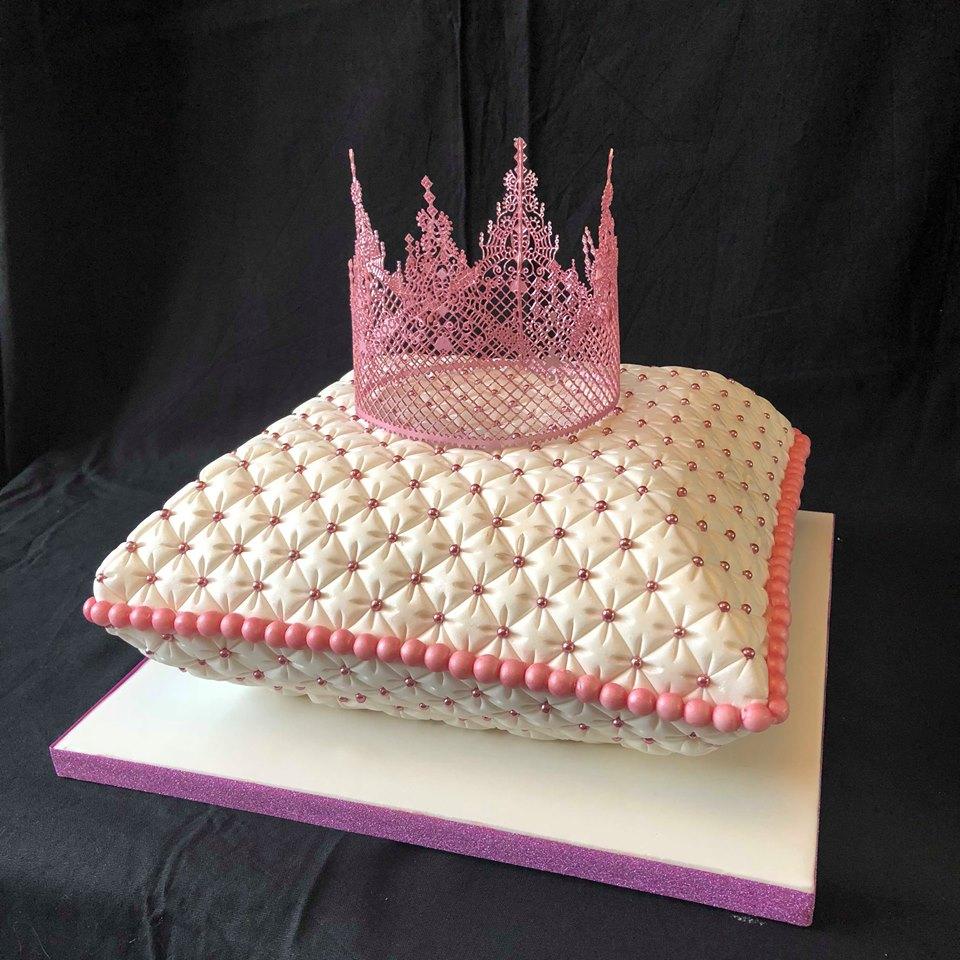 Pillow & Crown Cake