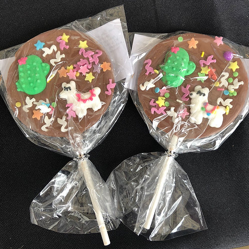 Llama Belgian Chocolate Lollies