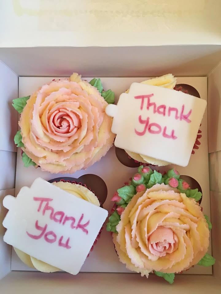 Thank You Rose Cupcakes