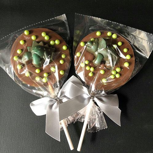Dinosaur Belgian Chocolate Lollies